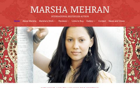 Screenshot of Home Page marshamehran.com - Marsha Mehran - captured Oct. 13, 2015
