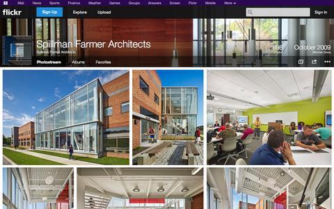 Screenshot of Flickr Page flickr.com - Flickr: Spillman Farmer Architects' Photostream - captured Oct. 25, 2014
