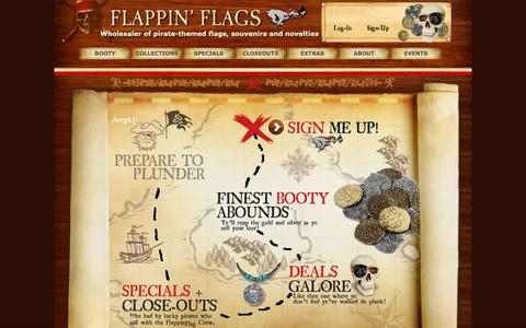 Screenshot of Signup Page flappinflags.com - Wholesale Signup : Flappin' Flags - captured Nov. 6, 2018