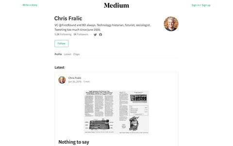 Chris Fralic – Medium
