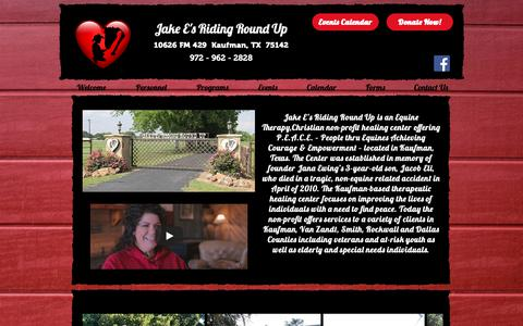 Screenshot of Home Page jakeesrr.org - Jake E's Riding Round Up | United States | Jake E's Riding Roundup - captured Oct. 1, 2018