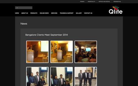Screenshot of Press Page qliteglobal.com - Qlite | News - captured Oct. 2, 2014
