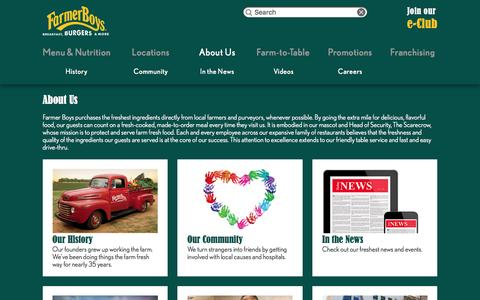 Screenshot of About Page farmerboys.com - About Us | Farmer Boys - captured Dec. 3, 2015