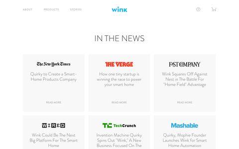Screenshot of Press Page wink.com - Wink | Press - captured Dec. 17, 2014
