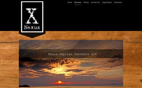 Screenshot of Services Page nexuscapitalpartners.com - Nexus Capital Partners LLP - Services - captured Nov. 12, 2017