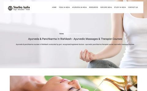 Ayurveda & Panchkarma In Rishikesh - Ayurvedic Massages & Therapist Courses