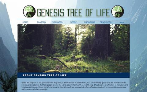 Screenshot of About Page genesistreeoflife.com - Genesis Tree of Life Yoga & Wellness Center | ABOUT US - captured July 25, 2017