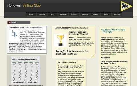 Screenshot of Press Page hollowellsc.org.uk - News - captured Nov. 2, 2014