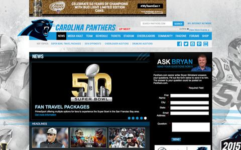 Screenshot of Press Page panthers.com - Carolina Panthers  |  News - captured Jan. 26, 2016