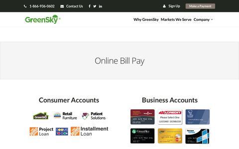 Pay Bill Online | GreenSky