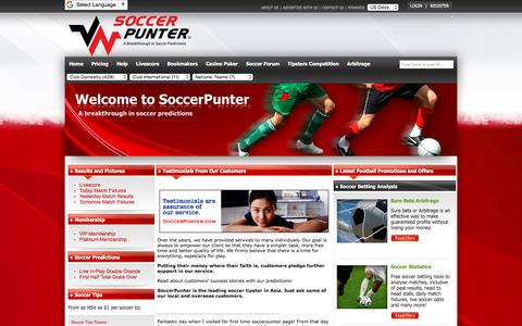 Screenshot of Testimonials Page soccerpunter.com - Customers Testimonials - SoccerPunter.com - captured Sept. 22, 2018