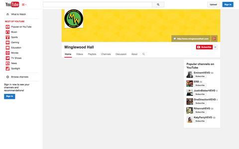 Screenshot of YouTube Page youtube.com - Minglewood Hall  - YouTube - captured Oct. 26, 2014