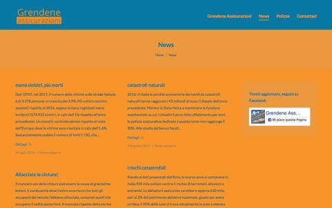 Screenshot of Press Page grendeneassicurazioni.it - News – Grendene Assicurazioni - captured July 25, 2018