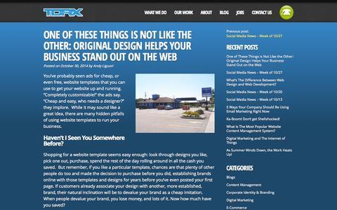 Screenshot of Blog torxmedia.com - Torx Media Blog - - captured Nov. 4, 2014