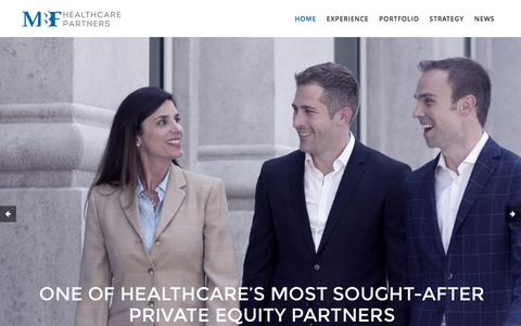 Screenshot of Home Page mbfhp.com - MBF Healthcare Partners | Experts in Transforming Healthcare Companies - captured Nov. 17, 2016