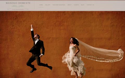 Screenshot of Home Page manolodoreste.com - Manolo Doreste | Miami Wedding and Portrait Photographer - captured Oct. 4, 2014