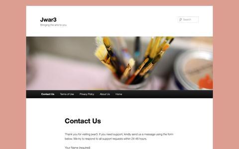 Screenshot of Contact Page jwar3.com - Contact Us - Jwar3Jwar3 - captured Oct. 23, 2018