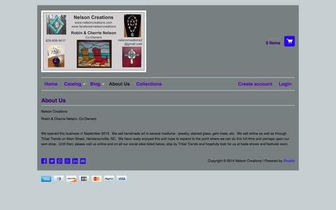 Screenshot of About Page nelsoncreations.com - About Us – Nelson Creations - captured Sept. 30, 2014