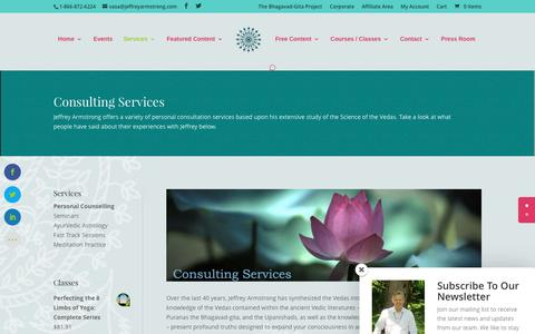 Screenshot of Services Page jeffreyarmstrong.com - Consulting Services - Jeffrey Armstrong - captured April 7, 2017