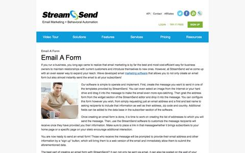 Email A Form   Creating An Email Form   Send A Form Via Email   StreamSend
