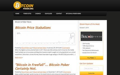 Screenshot of Press Page bigcoinpoker.com - Bitcoin & Poker News   BigcoinPoker.com - captured Oct. 5, 2014