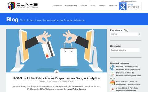 Screenshot of Blog clinks.com.br - Blog | CLINKS - captured Sept. 22, 2014
