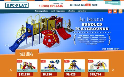Screenshot of Home Page apcplay.com - Commercial Playground Equipment - captured Jan. 21, 2015