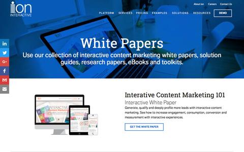Interactive Content Marketing White Papers