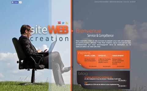 Screenshot of Home Page site-web-creation.net - Site Web Création - captured Sept. 19, 2014