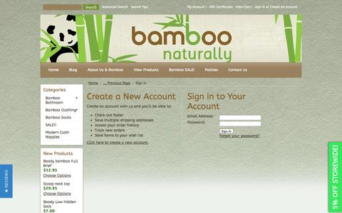 Screenshot of Login Page mybigcommerce.com - Bamboo Naturally - Sign in - captured Sept. 18, 2014