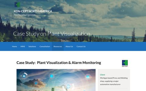 Screenshot of Case Studies Page konceptmis.com - Case Study on Plant Visualization – Kon-Cept North America - captured Oct. 17, 2017