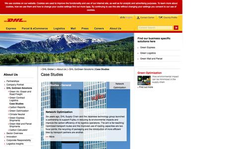 Screenshot of Case Studies Page dhl.com - DHL | Case Studies | English - captured Sept. 24, 2016