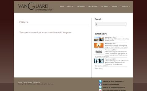 Screenshot of Jobs Page vanguard.bh - Careers «  Vanguard W.L.L. - captured Oct. 7, 2014