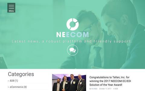 Screenshot of Blog neecom.org - Blog   .: NEECOM - captured Feb. 5, 2018