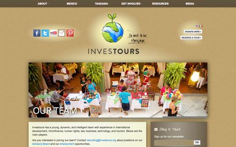 Screenshot of Team Page investours.org - Our Team | Investours - captured Oct. 6, 2014