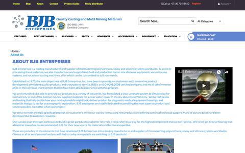 Screenshot of About Page bjbenterprises.com - About Us - captured Oct. 4, 2018