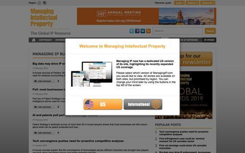 Screenshot of Blog managingip.com - Managing Intellectual Property - captured March 17, 2019