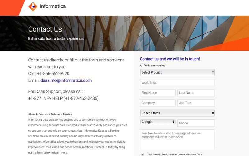 DaaS: Contact Informatica Data as a Service