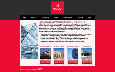 Screenshot of Services Page helixaz.com - Helix Asset Management Services - captured July 8, 2017