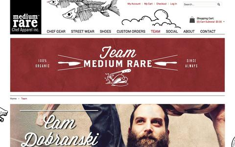 Screenshot of Team Page mediumrarechef.com - Team - captured Oct. 27, 2014