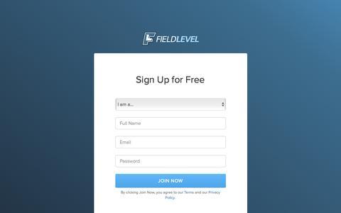 Screenshot of Signup Page fieldlevel.com - Join FieldLevel - captured Feb. 10, 2016