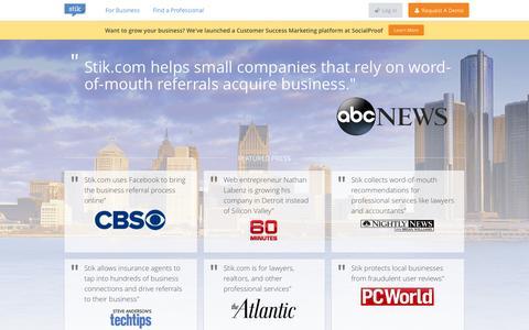 Screenshot of Press Page stik.com - Stik.com - captured Sept. 17, 2014