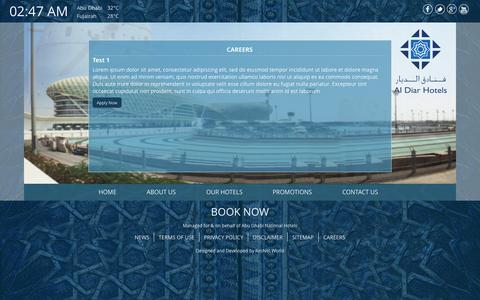 Screenshot of Jobs Page aldiarhotels.com - Careers - Al Diar - captured Sept. 30, 2014