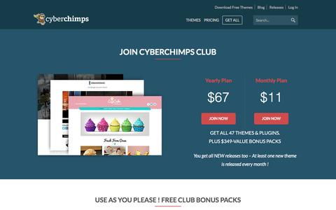 Screenshot of Trial Page cyberchimps.com - CyberChimps Club - Get Access To All CyberChimps Products - captured Dec. 8, 2016