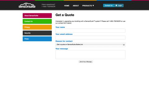 Screenshot of Signup Page sensorsuite.com - Sensor Suite Sign Up - captured Oct. 27, 2014
