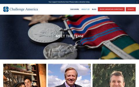Screenshot of Team Page challengeamerica.com - The Team — Challenge America - captured Nov. 4, 2018