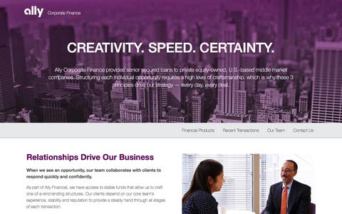 Ally Corporate Finance   Ally Financial