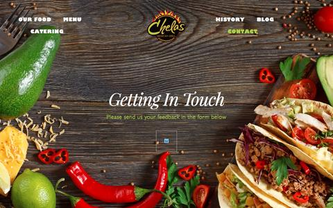 Screenshot of Contact Page chelasmexicangrill.com - Contact - Chelas Mexican Grill - captured July 12, 2016