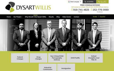 Screenshot of About Page cedysart.com - About | Dysart Willis PLLC - captured Oct. 9, 2018