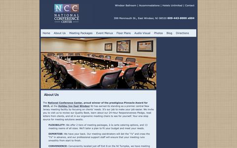 Screenshot of About Page nccmeetings.com - About Us | The National Conference Center - captured Oct. 18, 2018